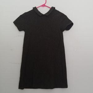 Girls zara olive green and black dress